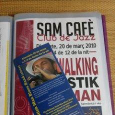 Música de colección: DOSSIER DE 49 PROGRAMAS Y TRIPTICOS DE JAZZ - SAM CAFE CLUB DE JAZZ - VILAFRANCA PENEDES. Lote 143123130