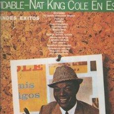 Música de colección: DISCO LP- INOLVIDABLES-NAT KING COLE EN ESPAÑOL. Lote 144850548
