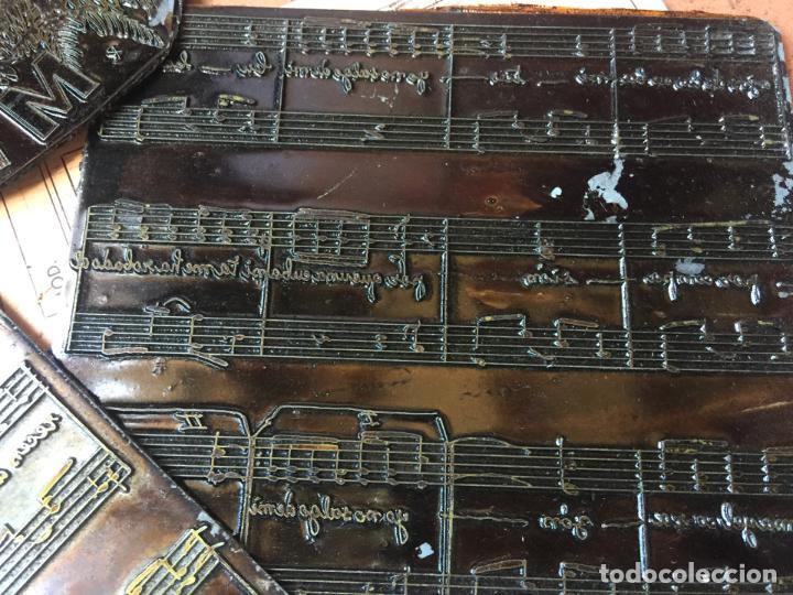 Música de colección: MI CUBA. Antiguas planchas de imprenta de la habanera, havanera. Pieza unica de museo - Foto 3 - 145339910