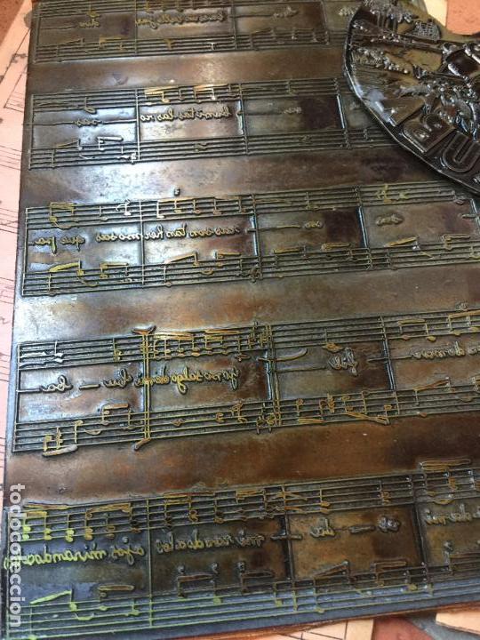 Música de colección: MI CUBA. Antiguas planchas de imprenta de la habanera, havanera. Pieza unica de museo - Foto 4 - 145339910