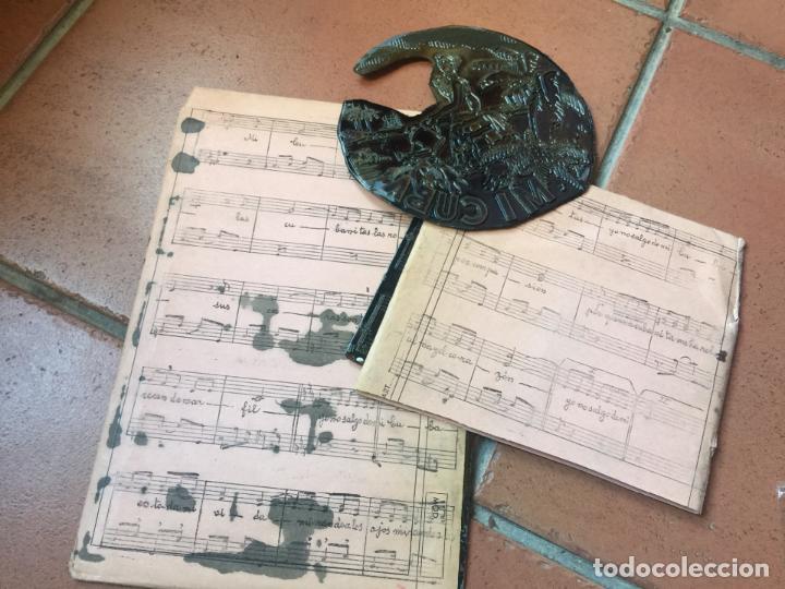 Música de colección: MI CUBA. Antiguas planchas de imprenta de la habanera, havanera. Pieza unica de museo - Foto 6 - 145339910