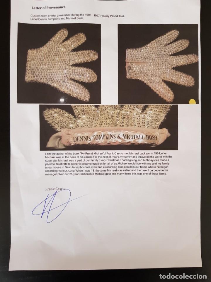 Música de colección: Guante original con cristales de Swarovski personalizado y usado por Michael Jackson - Foto 9 - 146059550