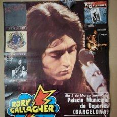 Música de colección: RORY GALLAGHER, CARTEL 1975. Lote 147571954