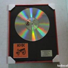 Música de colección: AC/DC - FOR THOSE ABOUT TO ROCK - DISCO DE PLATINO. Lote 147747574