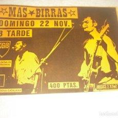 Música de colección: BESOS RABIOSOS Y MAS BIRRAS , EN CONCIERTO EN KGB. Lote 147773474