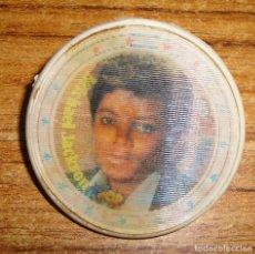 Música de colección: (TC-212/19) DIFICIL HOLOGRAMA SUPER POP MICHAEL JACKSON Y TRAVOLTA CHAPA PLASTICO CON AGUJA. Lote 147960870