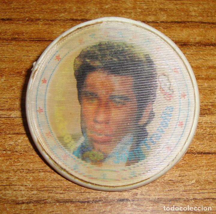 Música de colección: (TC-212/19) DIFICIL HOLOGRAMA SUPER POP MICHAEL JACKSON Y TRAVOLTA CHAPA PLASTICO CON AGUJA - Foto 3 - 147960870