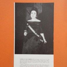 Música de colección: ANTIGUO DOCUMENTO BIOGRAFICO VICTORIA DE LOS ANGELES - 12 X 25 CM. Lote 148016114