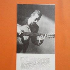 Música de colección: ANTIGUO DOCUMENTO BIOGRAFICO REGINO SAINZ DE LA MAZA - 12 X 25 CM. Lote 148016178