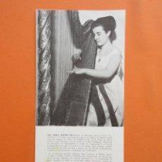 Música de colección: ANTIGUO DOCUMENTO BIOGRAFICO ANA MARIA MARTINI GIL - 12 X 25 CM. Lote 148016266