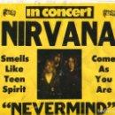 Música de colección: NIRVANA IN CONCERT - NEVEMIND ROCKING 1992 - POSTER ORIGINA VINTAGE US. Lote 148052982