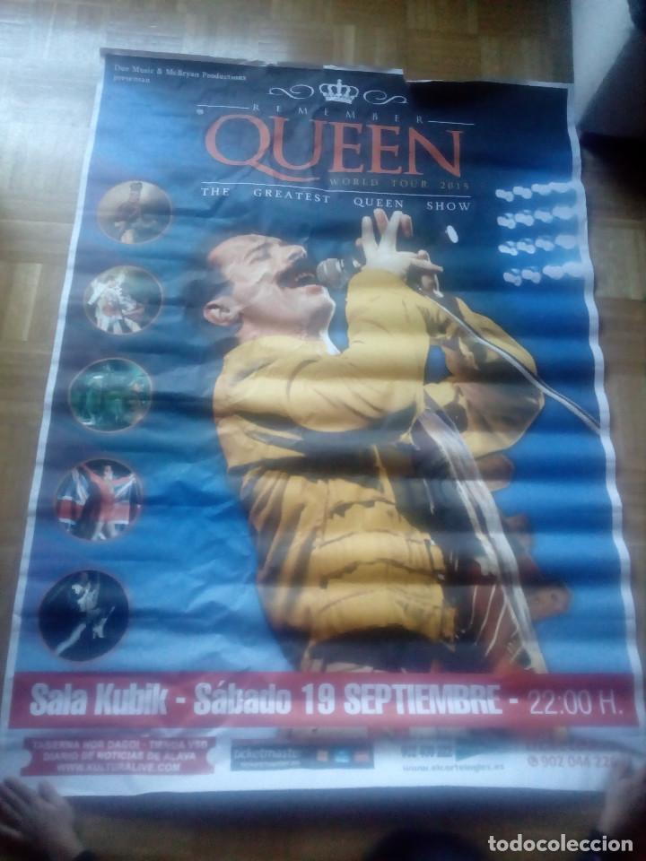 Música de colección: Gran cartel.Poster.Remember Queen .Año 2015.Sala Kubik.Alava.Vitoria. - Foto 6 - 148593566