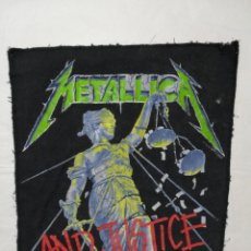 Música de colección: METALLICA ...AND JUSTICE FOR ALL. ANTIGUO PARCHE DE TELA PARA ESPALDA. 1988. Lote 149685426
