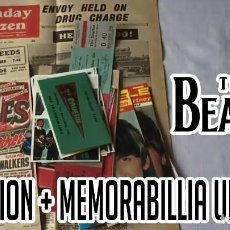 "Música de colección: THE BEATLES - BEATLEMANIA"" MEMORABILIA PACK BEATLES COLLECTION, CARTELES, FOTOS, ENTRADAS !! NUEVO !. Lote 151443694"