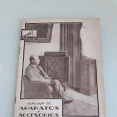 Música de colección: LA VOZ DE SU AMO - CATÁLOGO DE APARATOS Y ACCESORIOS - Nº 203 - PABLO CASALS - 1930. Lote 151160718