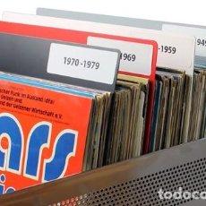 Música de colección: SEPARADORES PARA ORGANIZAR DISCOS DE VINILO LP POR ESTILOS, GRUPOS, ALFABETICAMENTE. PACK DE 10. Lote 180390958