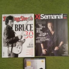 Musique de collection: BRUCE SPRINGSTEEN REVISTA ROLLING STONE 173, REVISTA XL EL SEMANAL 1629 Y DVD ENTREVISTA THE RISING.. Lote 154056180