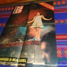 Música de colección: CARTEL MASSIEL GANADORA EUROVISIÓN 1968 POR ESPAÑA. NUEVO DIARIO. LP LA, LA, LA LOS STOP CON REGALOS. Lote 154593350