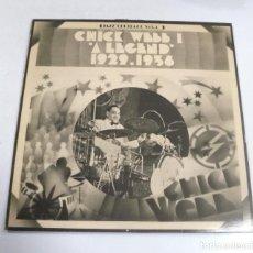 Música de colección: LP. CHICK WEBB 1. A LEGEND. 1929 - 1936. MCA. Lote 154741074