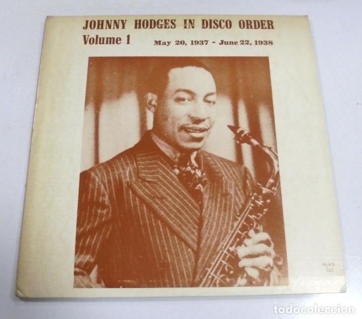 LP. JOHNNY HODGES IN DISCO ORDER. VOLUME 1. 1937 - 1938. (Música - Varios)