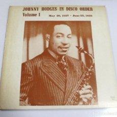 Música de colección: LP. JOHNNY HODGES IN DISCO ORDER. VOLUME 1. 1937 - 1938.. Lote 154741430