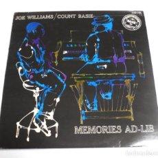 Música de colección: LP. JOE WILLIAMS / COUNT BASIE. MEMORIES AD-LIB. ROULETTE. Lote 154741674