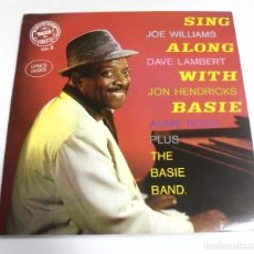 Música de colección: LP. SING JOE WILLIAMS ALONG DAVE LAMBERT WITH JON HANDRICKS. BASIE ON ROULETTE VOL 3.. Lote 154741838