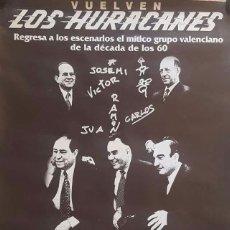 Música de colección: POSTER GIGANTE DE LOS HURACANES - LIVE ROXY, VALENCIA AÑOS 2000S. Lote 154882472
