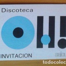 Musique de collection: ENTRADA. INVITACION. TICKET. DISCOTECA OH! SALOU. TARRAGONA. AÑOS 80.. Lote 155187794