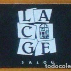Musique de collection: ENTRADA. INVITACION. TICKET. DISCOTECA LA CAGE. SALOU. TARRAGONA. AÑOS 80.. Lote 155187930