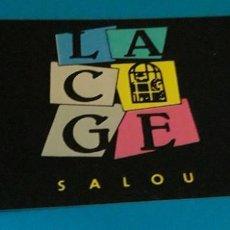 Musique de collection: ENTRADA. INVITACION. TICKET. DISCOTECA LA CAGE. SALOU. TARRAGONA. AÑOS 80.. Lote 155248718