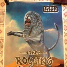 Música de colección: THE ROLLING STONES - POSTER BRIDGES TO BABYLON. Lote 155409288