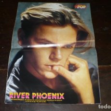 Música de colección: POSTER DE LA REVISTA, SUPER POP, RIVER PHOENIX, DETRAS SAMANTHA FOX, 42 X 29,5 . Lote 155414022