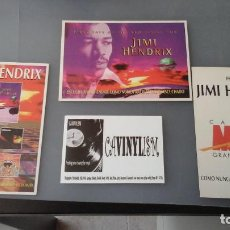 Música de colección: JIMMY HENDRIX - LOTE DE 3 POSTALES PROMOCIONALES DEL DISCO FIRST RAYS OF THE NEW RISING SUN. Lote 155469434