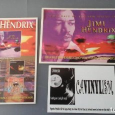Música de colección: JIMMY HENDRIX - LOTE DE 2 POSTALES PROMOCIONALES DEL DISCO FIRST RAYS OF THE NEW RISING SUN. Lote 155469446