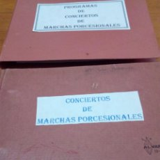 Música de colección: GRAN LOTE DE PROGRAMA, CONCIERTO.... MARCHA DE SEMANA SANTA. SAN FERNANDO. VER FOTOS. EST1B1. Lote 155778878