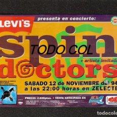 Música de colección: SPIN DOCTORS: ANTIGUO FLYER-BARCELONA-SALA ZELESTE- HERMOSA PIEZA COLECCIONABLE-40 PRINCIPALES. Lote 156090546