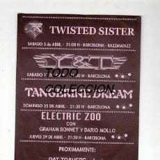 Música de colección: TANGERINE DREAM-TWISTED SISTER-MISFITS-M.SCHENKER:FLYER ANTIGUO- BANDAS MITICAS-COLECCION. Lote 156093626