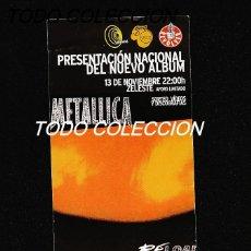 Música de colección: METALLICA: HEAVY METAL: RARISIMA INVITACION NUEVO ALBUM-FLYER INVITACION-BEATLES VEA MAS. Lote 156100910