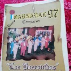 Música de colección: CARNAVAL DE CÁDIZ LIBRETO LOS BUSCAVIDAS. Lote 156688410
