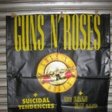 Música de colección: CARTEL EN PLASTICO DURO GUNS N'ROSES CONCIERTO 1993 BARCELONA.ESTADI OLIMPIC.. Lote 158053722