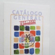 Música de colección: CATALOGO GENERAL 10º ANIVERSARIO RAMA LAMA MUSIC (RAMALAMA) 1997-2007 48 PAGINAS * NUEVO, A ESTRENAR. Lote 181586948