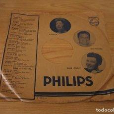 Música de colección: FUNDA DISCOS DE PIZARRA PHILIPS FOTOS DE ESTRELLA / BILLIE HOLIDAY / JOAN WEBER / ROSEMARY CLOONEY. Lote 160693510