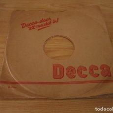 Música de colección: FUNDA DISCOS DE PIZARRA DECCA (HOLANDESA). Lote 160693586