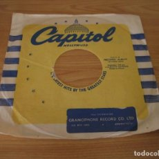 Música de colección: FUNDA DISCOS DE PIZARRA CAPITOL HOLLYWOOD - SUDAFRICA. Lote 160694034