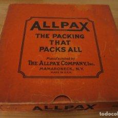 Música de colección: PRECIOSA CAJA MADE IN USA PARA DISCOS DE PIZARRA MARCA ALLPAX. Lote 160695658