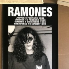 Música de colección: RAMONES JOEY RAMONE LONA BANNER ROLL UP PVC LIMITED EDITION CONCIERTOS ARENA VALENCIA 89-90-91. Lote 160711406