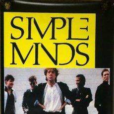 Música de colección: SIMPLE MINDS LONA BANNER ROLL UP PVC LIMITED EDITION CONCIERTO 1986 LEVANTE UD VALENCIA ESPAÑA. Lote 178921753