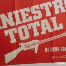 Música de colección: SINIESTRO TOTAL CARTEL POSTER PROMOCIONAL ORIGINAL 1988 ME GUSTA COMO ANDAS PUNK SPAIN. Lote 161110874