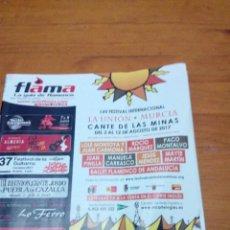 Música de colección: FLAMA. LA GUIA DE FLAMENCO. Nº 136. 2017. EST2B3. Lote 161829586
